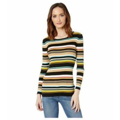 Vince Camuto ヴィンスカムート 服 スウェット Long Sleeve Multicolor Ribbed Sweater