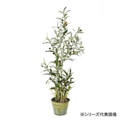 人工観葉、フェイクグリーン関連 人工観葉植物 オリーブツリーグラスバケット S 約68cm 159020920