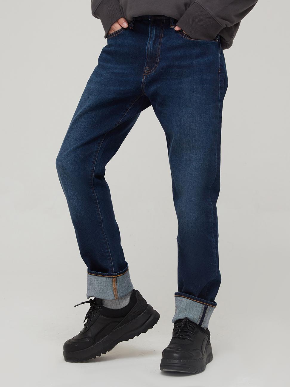 男裝 時尚中腰修身款牛仔褲