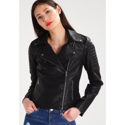 ノイジーメイ ジャケット&ブルゾン レディース アウター NMREBEL - Faux leather jacket - black