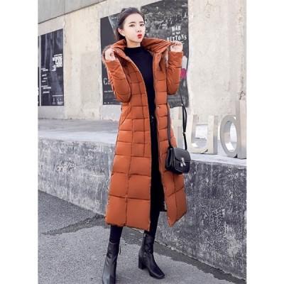 [MAMIUM] レディース コート ダウンコートロングダウンコート 中綿 アウター ダウン綿 大きいサイズあり 帽子付き トレンド 秋冬新品