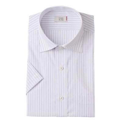 形態安定半袖ワイシャツ(レギュラーカラー)(標準シルエット) (ワイシャツ)Shirts, テレワーク, 在宅, リモート