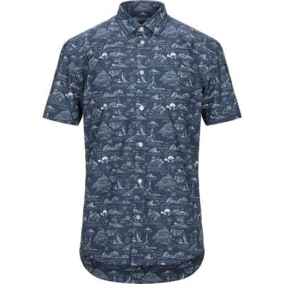 ミニマム MINIMUM メンズ シャツ トップス patterned shirt Slate blue