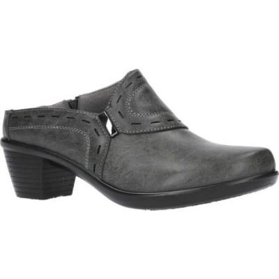 イージーストリート Easy Street レディース サンダル・ミュール シューズ・靴 cynthia comfort mule Grey Manmade