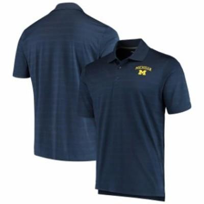 Champion チャンピオン スポーツ用品  Champion Michigan Wolverines Navy Textured Polo