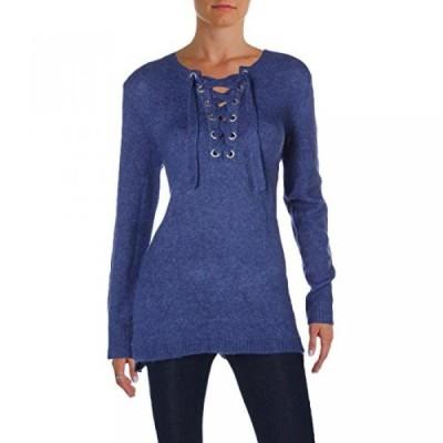 ケンジー レディース セーター(プルオーバー型) Kensie Womens Lace-Up Marled Sweater