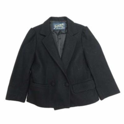 【中古】フォードミルズ FORDMILLS テーラードジャケット ブレザー ダブルボタン ブルゾン 36 黒 ブラック/31 レディース