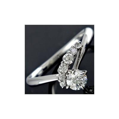 ダイヤモンドリング 一粒 大粒 指輪 ホワイトゴールドK18 ダイヤ 18金 ストレート 2.3 送料無料