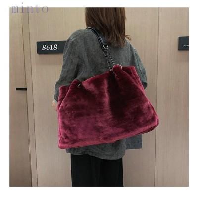 新作ファーバッグトートバッグハンドバッグレディースバッグショルダーバッグ鞄肩掛け大きめ大容量オシャレカバンシンプル