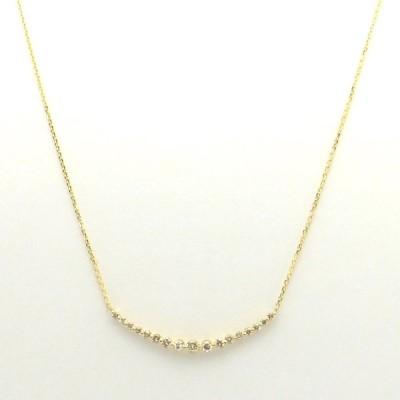 ダイヤモンドゴールドネックレス ダイヤモンド合計0.50ct K18