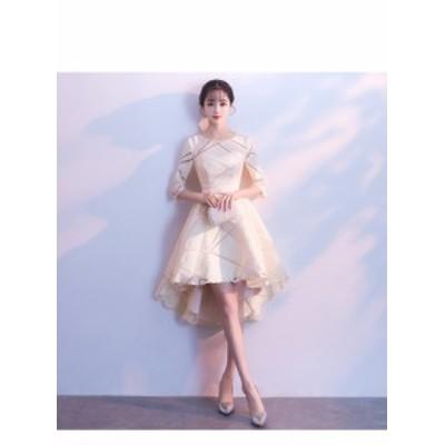 結婚式 ドレス パーティー ロングドレス 二次会ドレス ウェディングドレス お呼ばれドレス 卒業パーティー 成人式 同窓会hs58
