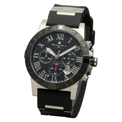 腕時計 クロノグラフウレタンベルトウォッチ Salvatore Marra(サルバトーレマーラ) SM18118-SSBK