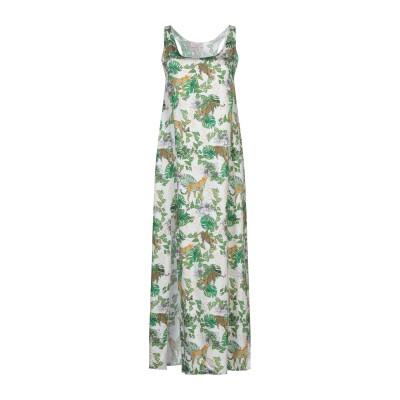 FOUDESIR ロングワンピース&ドレス ホワイト L レーヨン 100% ロングワンピース&ドレス