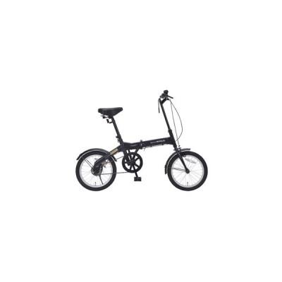 マイパラス 折りたたみ自転車 16インチ(ブラック) MYPALLAS M-100-BK 返品種別B