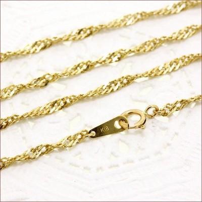 ネックレス レディース スクリュー ネックレス チェーン 地金 ネックレス 40cm ゴールド  ネックレス 18金 18K