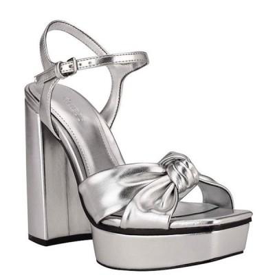 ゲス レディース サンダル シューズ Roslynn Knot Detail Platform Dress Sandals