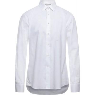 デルシエナ DEL SIENA メンズ シャツ トップス Solid Color Shirt White