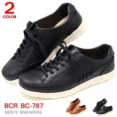 メンズ スニーカー メンズ 靴 ひも靴 コートタイプ 黒 BCR BC787