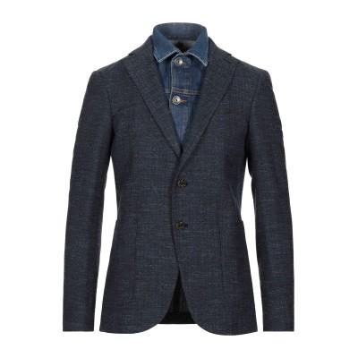 イレブンティ ELEVENTY テーラードジャケット ブルー 46 ウール 68% / コットン 25% / リネン 7% / ポリウレタン テーラ