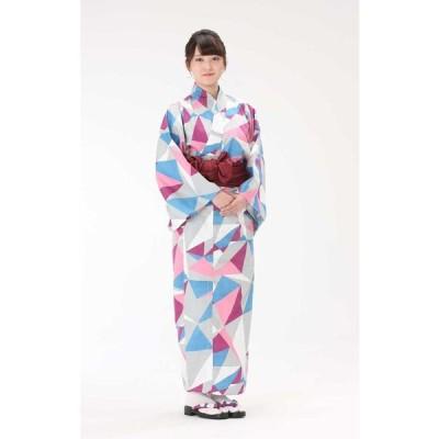 【浴衣と帯のセット】日本製 折り紙あやめ(おりがみ あやめ) 旅館浴衣【業務用】【遠州織物】
