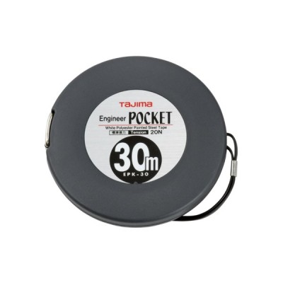 TAJIMA タジマ EPK 30 BL 巻尺 ロード メジャー 測定 工具 エンジニヤ ポケット 30m 20N JIS 1級 軽量 丈夫 ストラップ 空転防止 テープ交換可 スチール テープ