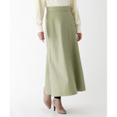 SOUP / 【大きいサイズあり・15号】フェイクレザークロスサイドスリットスカート WOMEN スカート > スカート