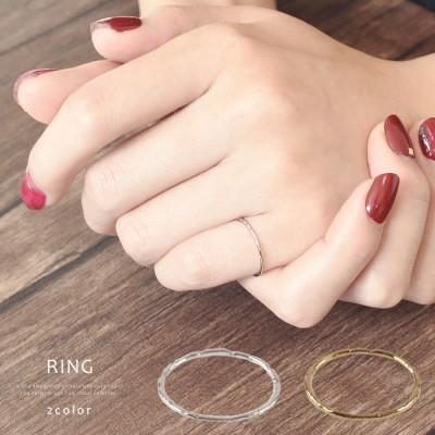 aquagarage 【在庫限りで販売終了】シンプルデザイン極細リング 指輪 シルバー ~7号 レディース