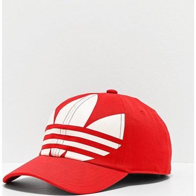 アディダス ADIDAS メンズ キャップ スナップバック 帽子 adidas Originals Relaxed Big Trefoil Lush Red & White Strapback Hat Medium red