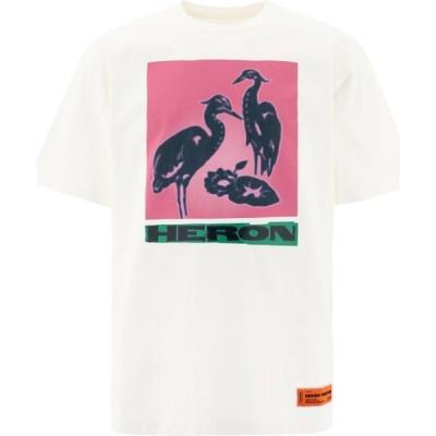 """ヘロン プレストン Heron Preston メンズ Tシャツ トップス """"Herons"""" T-Shirt White"""