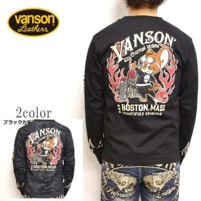 バンソン VANSON TOM and JERRY TJV-901 長袖 Tシャツ ロンT トム&ジェリー 天竺TEE メンズ