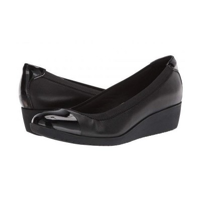 Clarks クラークス レディース 女性用 シューズ 靴 ヒール Elin Palm - Black Leather/Synthetic Patent
