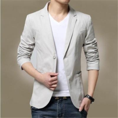 テーラードジャケット メンズ 無地 長袖 ビジネス 紳士用 通勤 アウター jacket 細身 春 秋 大きいサイズ