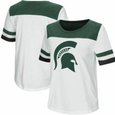 Colosseum コロセウム スポーツ用品  Colosseum Michigan State Spartans Womens White Show Me the Money T-Shirt