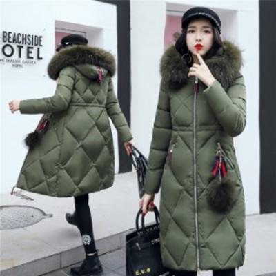 ダウンジャケット レディース アウター 大きいサイズ コート ライトコート 防寒着 着痩せ あったか 冬服 ロングコート