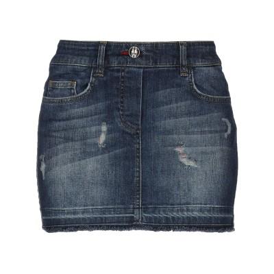 PHILIPP PLEIN デニムスカート ブルー M コットン 99% / ポリウレタン 1% デニムスカート