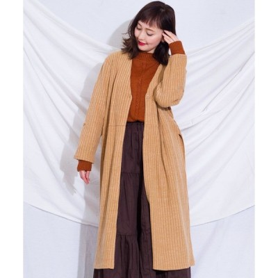 カーディガン La・comfy / コート風カーディガンワンピース