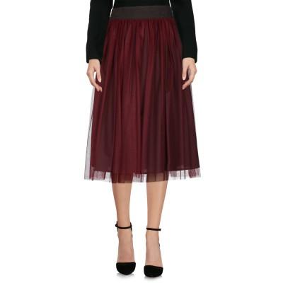 ロベルト コリーナ ROBERTO COLLINA 7分丈スカート ボルドー M ナイロン 100% 7分丈スカート