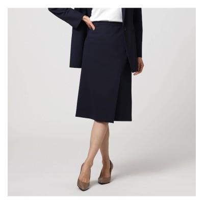 【アンタイトル/UNTITLED】 トスカーナノベルストレッチ ラップ風スカート