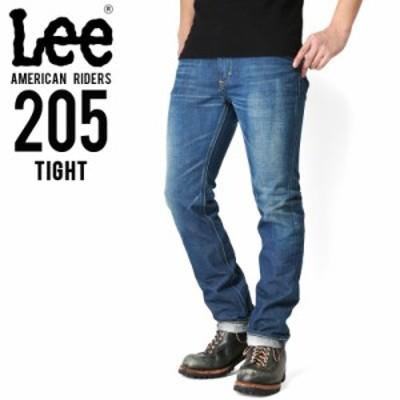 クーポンで最大1000円OFF!Lee リー AMERICAN RIDERS 205 タイトストレート デニムパンツ 中色ブルー 【LM5205-446】 / ミリタリー メン