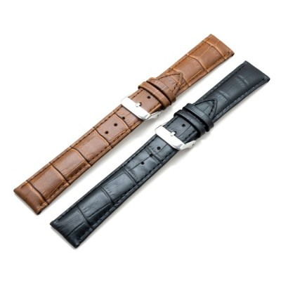 時計用 革ベルト バックル ピンバックル ピン留め かっこいい おしゃれ レザー 交換 牛革 ブレスレット 腕時計 20mm ウォッチ