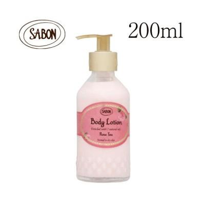 サボン ボディローション ローズティー ボトルタイプ 200ml / SABON ボディクリーム ローズ 潤い ボディケア 香り 匂い 保湿
