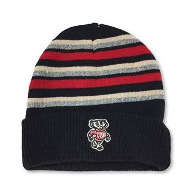 ユニセックス スポーツリーグ アメリカ大学スポーツ Wisconsin Badgers Cuff Knit Beanie Cap Hat 帽子