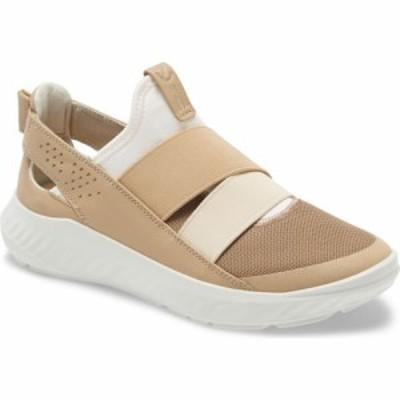 エコー ECCO レディース スリッポン・フラット スニーカー シューズ・靴 St.1 Lite Slip-On Sneaker White/Beige