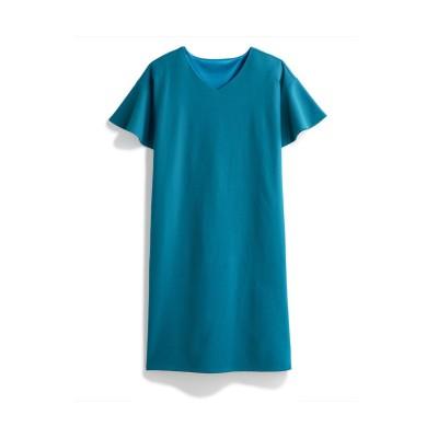トールサイズ フレアスリーブカットソーサックワンピース 【高身長・長身】ひざ丈ワンピース, tall  size, Dress