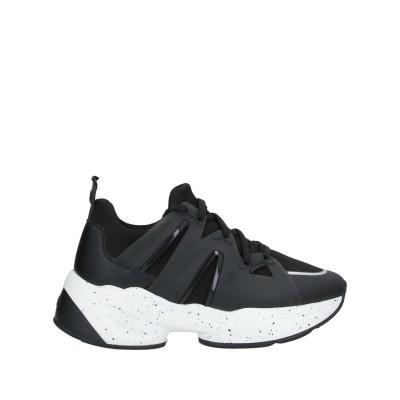 リュー ジョー LIU •JO スニーカー&テニスシューズ(ローカット) ブラック 40 紡績繊維 スニーカー&テニスシューズ(ローカット)