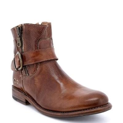 ベッドステュ レディース ブーツ&レインブーツ シューズ Becca Leather Block Heel Booties Tan Rustic