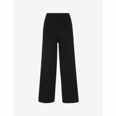 ホイッスルズ WHISTLES レディース ボトムス・パンツ ワイド ニット トラウザー Knitted Wide-Leg Trousers BLACK
