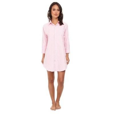 ラルフローレン ナイトウェア アンダーウェア レディース Essentials Striped His Shirt Carissa Bengal Stripe Pink Hyacinth/White