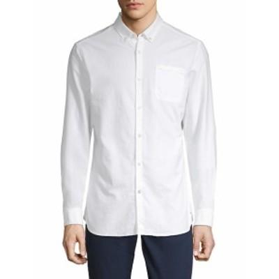 スコッチ&ソーダ メンズ カジュアル ボタンダウンシャツ Classic Cotton Button-Down Shirt