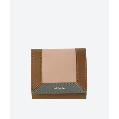 <Paul Smith (Bag&SLG)/ポール・スミス> コントラストカラーブロック BOX型二つ折り財布 BPW273 ペールピンク【三越伊勢丹/公式】